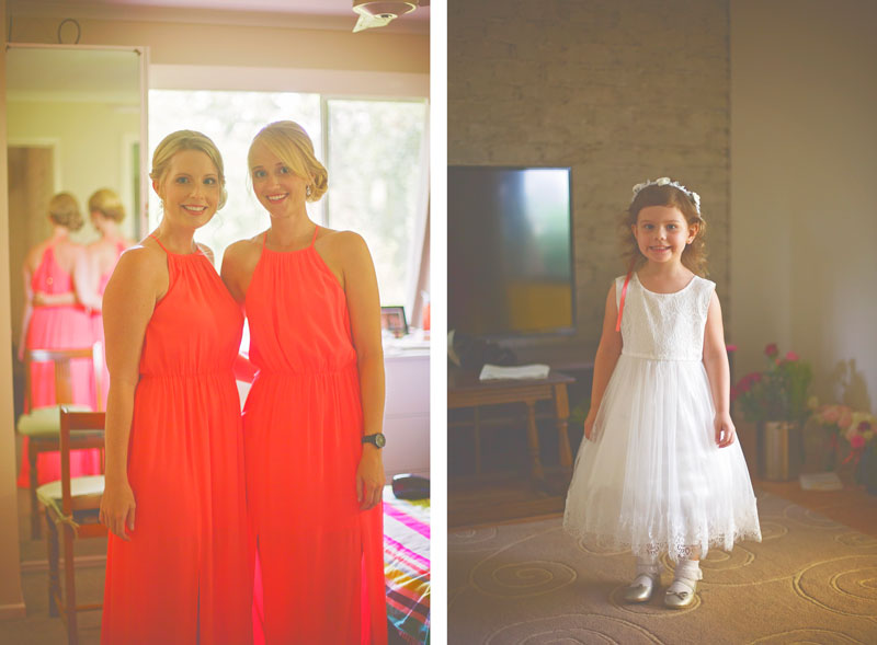 bridesmaids and flower girl