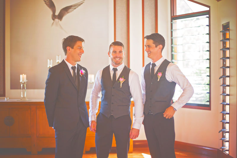 groomsmen waiting