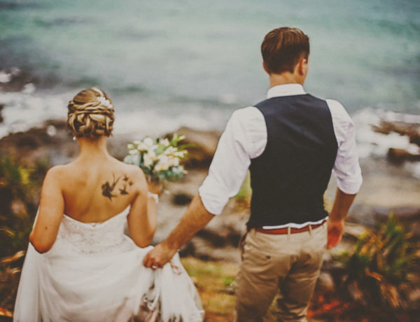 surfer marcoola beach wedding